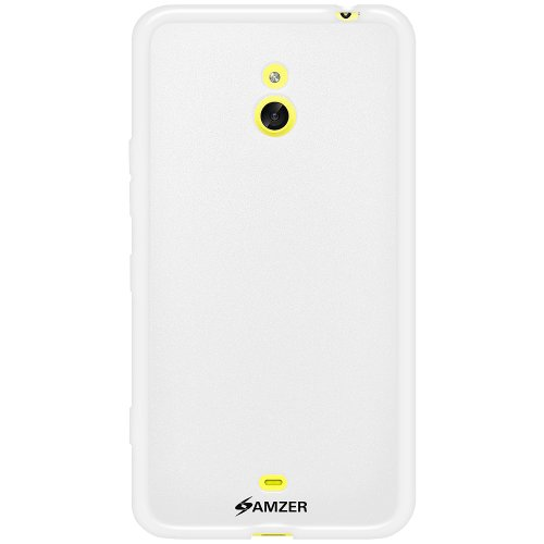 Amzer 96346 Pudding TPU Case - White for Nokia Lumia 1320  available at amazon for Rs.449