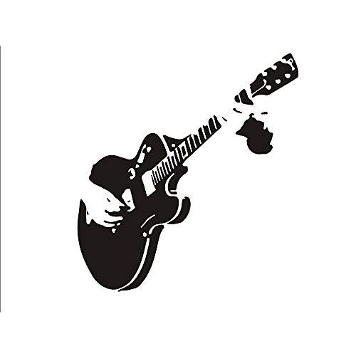 Ogquaton Premium Qualität Wandkunst Aufkleber Wandaufkleber 55 * 59 cm Gitarre Spielen Wandbilder Für Familie Schlafzimmer Dekoration Unternehmen Büro Tapete Geburtstagsgeschenk (Spielen Können Wir Spiele, Vinyl Die)