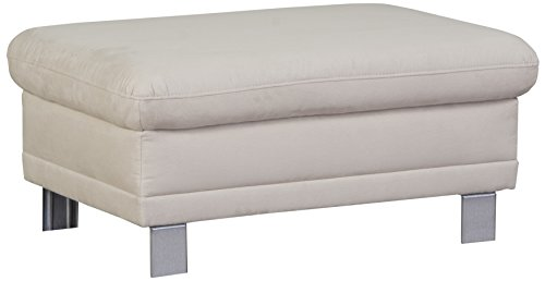 Cavadore Sofa-Hocker Marool / Beistellhocker passend zum Ecksofa Marool / Modernes Design / Mikrofaser / Größe: 102 x 47 x 65 cm (BxHxT) / Bezug in...