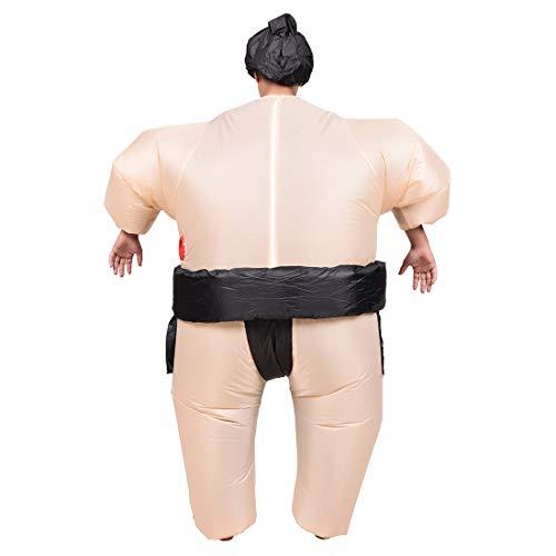 Cvthfyky Aufblasbares Sumo-Ringer-Kleidungs-Kostüm für Mann und Frauen (Color : Solid ()