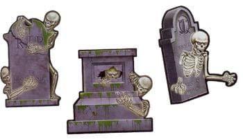e Skelett Grabstein aus Karton ()