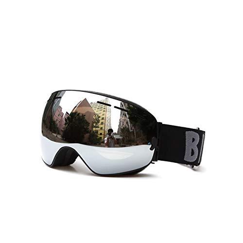 Fahrradbrille Damen Damen Herren Skibrille Verdoppeln Dauerhaftes Anti Fog Große Kugelförmige Große Sichtfeldgläser Kartenmyopie Schwarz Brown Silber