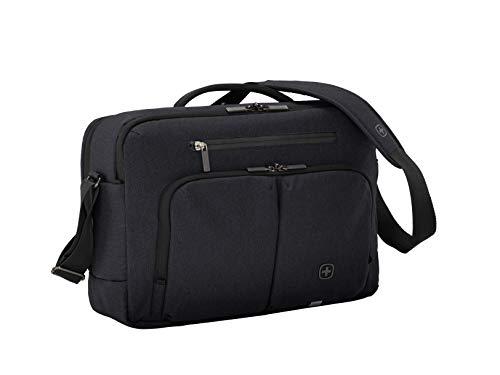 """Wenger 602820 CityStream 15,6"""" Notebook-Aktentasche, gepolsterte Laptopfach mit iPad/Tablet / eReader Tasche in schwarz"""