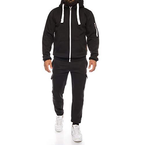 Finchman Finchsuit 1 Herren Jogging Anzug Trainingsanzug Sportanzug FMJS135, Schwarz 02, S