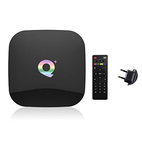 JUNMAONO Android TV-Box TV-Set-Top-Box Q Plus Smart TV-Box Android 9.0 Allwinner H6 4 GB /32/64 GB 6 K H.265 Media Player USB3.0 2,4 G WiFi-Set-Top-Box PK S905X2 T95Q X96 max (32G)