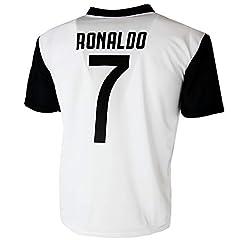 Idea Regalo - Maglia Juventus Cristiano Ronaldo 7 CR7 Replica Autorizzata 2018-2019 Bambino (Taglie-Anni 2 4 6 8 10 12) Adulto (S M L XL) (10 Anni)