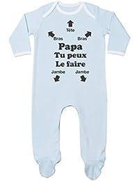 Green Turtle T-Shirts Papa Tu Peux Le Faire ! Futur Papa Naissance  Combinaison Bébé 104f4afc726