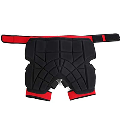 Keyobesa 3D Protection Hip Butt Paded Short Pants Protective Gear Guard Impact Pad Ski Ice Skating Snowboard Schwarz
