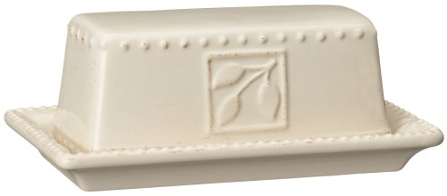 Signature Haushaltswaren Sorrento Collection Butterdose, elfenbeinfarben, Antik Finish