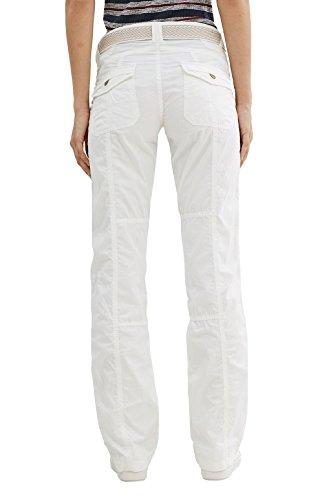 edc by ESPRIT 997cc1b800, Pantaloni Donna Bianco (White)