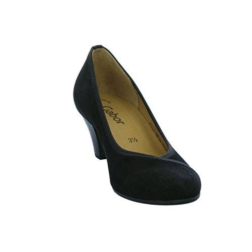 Gabor 48417–35, escarpins femme-noir (import royaume uni) Noir - Noir