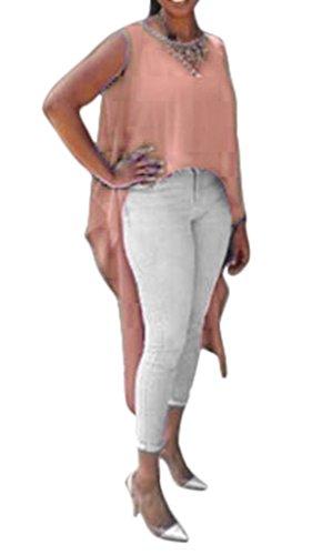 chemise longue derriere femme,femme casual chemise ,chemise blouse ... e55b1fde7354