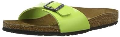 Birkenstock Madrid Birko Flor, Unisex Adults' Clogs, Green Glow, 2.5 UK (35 EU)