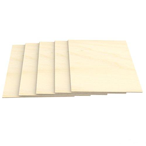 AUPROTEC 5x A3 Sperrholz-Platten Birke 3mm Multiplexplatten (297 mm x 420 mm) Bastel- und Laubsäge-Holzplatten Birke Massiv Multiplex Holz 1. Klasse Industriequalität