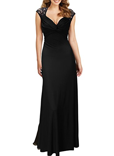 miusol-womens-vintage-sexy-fold-v-neck-cap-sleeve-pleated-evening-maxi-dress-black-size-medium