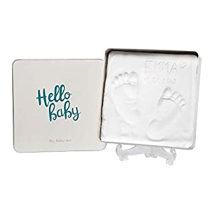 Baby Art - Magic Box Square Essentials Elegant Gift Box with Plaster Cast for Baby Feet or Hands, Multi-Colour