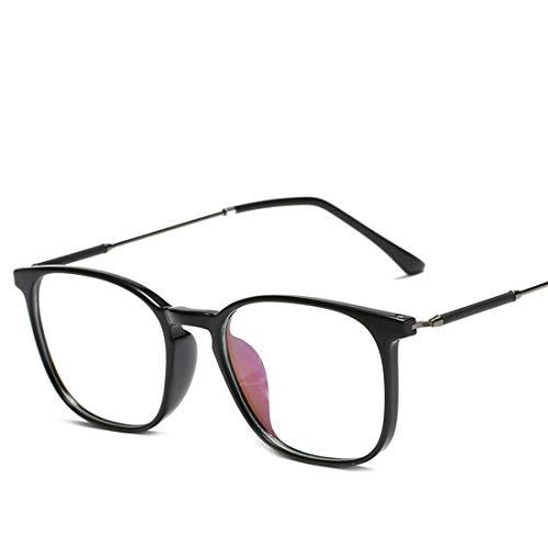 Limeinimukete Brillenmänner und -Frauen allgemeine Computeraugenschutzbrille der Art und Weise des Metallrahmens Blaue (Color : Black)