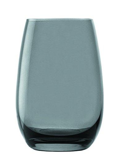 Stölzle Lausitz Elements Kids Taza, 335ml, juego de 6vasos, apto para lavavajillas, vasos multicolores, alta calidad, gris