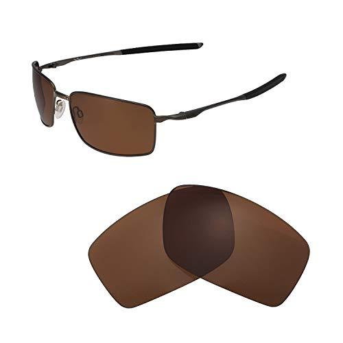 Walleva Ersatzlinsen für Oakley Square Wire II (OO4075-Serie), Verschiedene Optionen erhältlich, Unisex-Erwachsene, Brown - Polarized, Einheitsgröße