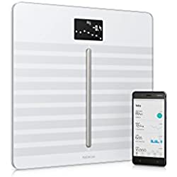 Nokia Body Cardio - Báscula Wi-Fi con composición corporal y frecuencia cardiaca, color blanco