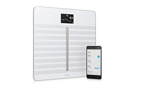 Nokia Body Cardio - WLAN-Körperwaage mit Funktion für Körperzusammensetzung & Herzfrequenz - Weiß