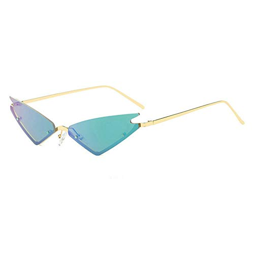 GBST New Round Art Gold Fine Wire Optical Metal Spectacle Frame Women's Myopia Frame Men's Plain Light Cosmetic Glasses,Gold Blue Green