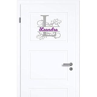 NEU Aufkleber/Sticker für Kinderzimmer - Wände,Türen, Autoscheiben/Lack uvm ***Ihr Monogramm Buchstabe + Wunschtext***(Größen.- und Farbauswahl)