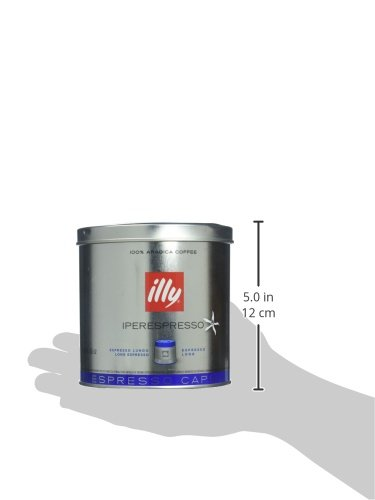 Capsule Illy metodo iperespresso Espresso, caffé lungo, barattolo con coperchio, 21Capsule (1x 130,2G argento/blu)