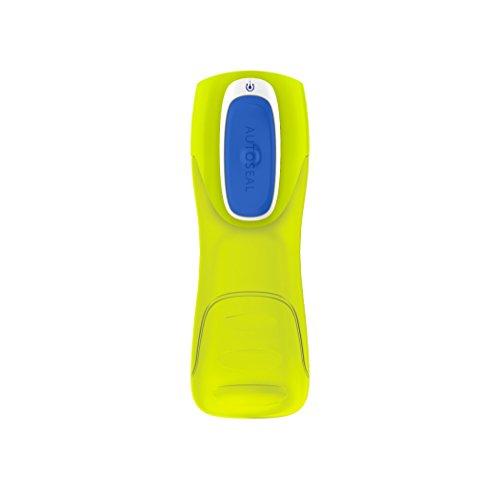 Contigo Trekker - Cantimplora con cierre antiderrame AUTOSEAL, color Amarillo (Citrus/Blue), 420 ml
