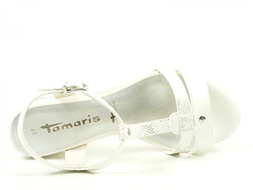Tamaris Damen 28220 T-Spange Weiß