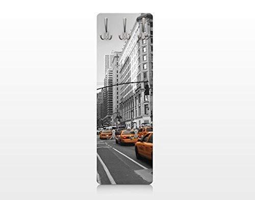 Apalis 75109 Wandgarderobe New York | Design Garderobe Garderobenpaneel Kleiderhaken Flurgarderobe Hakenleiste Holz Standgarderobe Hängegarderobe | 139x46cm