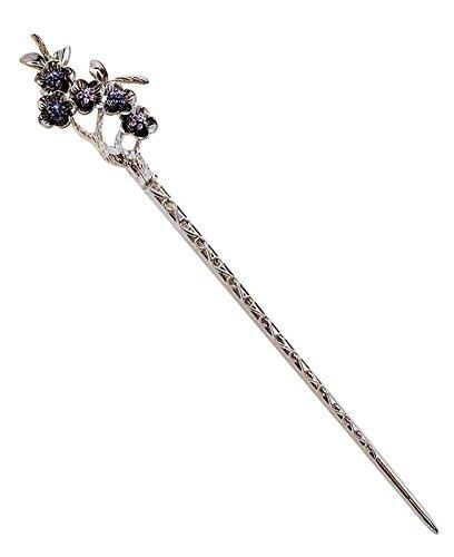 Silber Blumen Haar Zubehör Retro Chinesisch Kanzashi