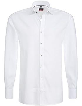 ETERNA Herren Langarm Hemd Modern Fit Winter Special weiß mit Piping 8220.00.X18K (45)