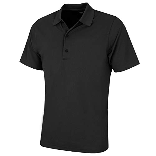 Greg Norman Herren Poloshirt Pro Tek Performance Micro Pique Polo Shirt - Schwarz, 2 X Große - Performance Pique Polo Golf