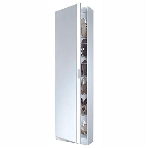 FORES - Zapatero 1 Puerta Espejo Blanc Fores 180X50X20