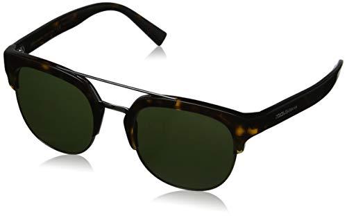 Dolce & Gabbana Herren 0DG4317 502/71 53 Sonnenbrille, Braun (Havana/Green),