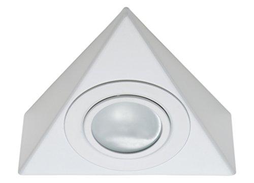 Lichtdiscount - Dreieck Möbel Unterbau Leuchte weiss/inkl. 20 W G4 Halogen Leuchtmittel
