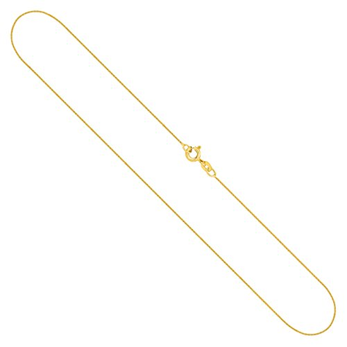Goldkette, Ankerkette flach Gelbgold 585/14 K, Länge 42 cm, Breite 0.8 mm, Gewicht ca. 0.9 g, NEU