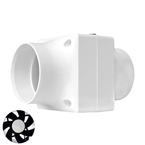 Badlüfter Abluftventilator Mini-Abluftventilator Geräuscharmer Abluftventilator Geräuscharmer Haushaltslüfter Leiser Ventilator, 3 Zoll rund