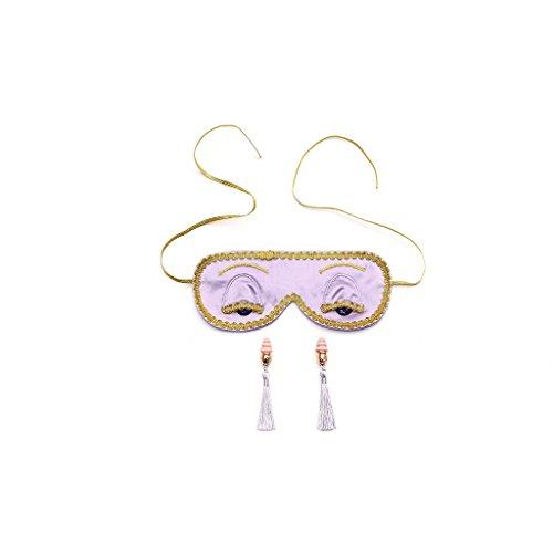 Audrey Hepburn Frühstück bei Tiffany Holly Golightly Luxus Lavendel Traum Schlafmaske und Ohrstöpsel Set Handmade