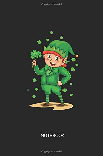 Notebook: Blank Lined Journal 6x9 - Irish Leprechaun Shamrock St Patricks Day (Christmas Gnome Costume)