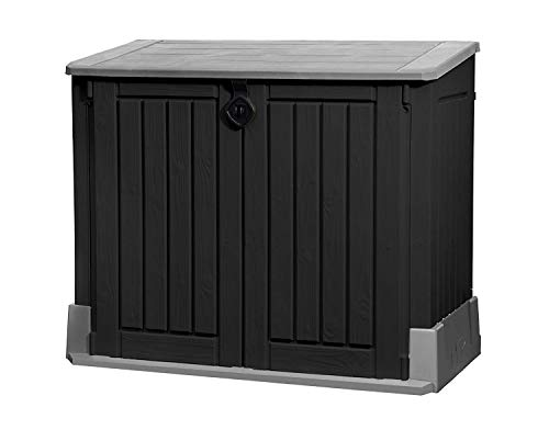 Keter Mülltonnenbox Store it Out Midi, Schwarz, 845L -