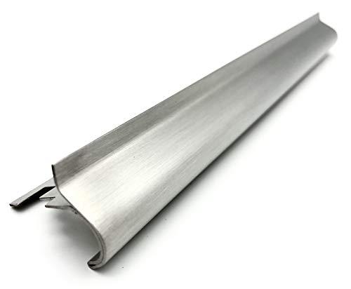 ProDiva SCALA - Edelstahl V4A Premium Qualität - Treppenprofil, Treppenkantenprofil, Fliesenprofil (Gebürstet, 11 mm) - Länge 2,50 m