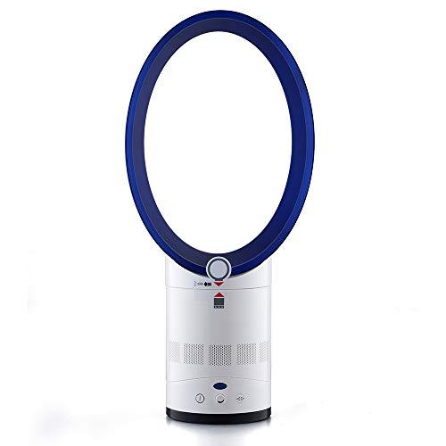 ZEDTGHEU 14-Zoll-elektrischer blattloser Ventilator, Ei-Form-Luftreiniger-Haushalts-Reinigungs-Ventilator-Tischplattensteuerlüfter verwendbar für Wohnzimmer, Büro