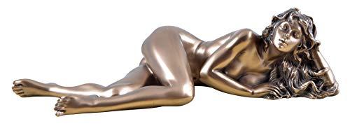 Unbekannt Weiblicher Akt liegende Frau Figur bronziert Skulptur