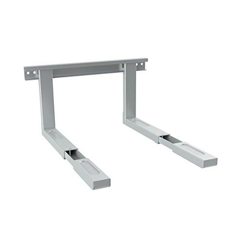 Soporte Universal para microondas PureMounts para Montaje en Pared Longitud Ajustable 385-535 mm, Ancho de Pluma: 43 cm, Capacidad de Carga: máx. 35,0 kg, Gris Plateado
