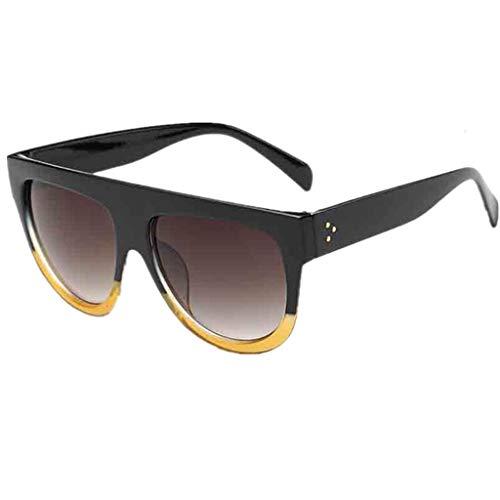 FRAUIT Männer Frauen Platz Vintage Sonnenbrillen Verspiegelte Unisex Eyewear Outdoor Sports Glasse Doppel-Reisnagel-Unisexbrille