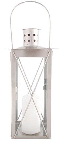 Esschert Design - Lampada a candela per esterni, a forma di parallelepipedo, offerta in varie dimensioni, in acciaio INOX 26,5cm