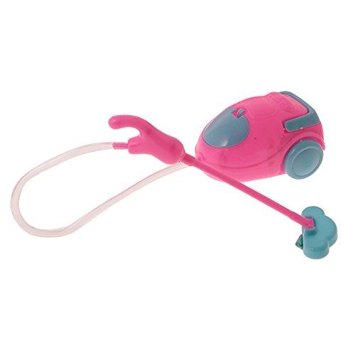 Sharplace 1:6 Casa Di Bambola Aspirapolvere Pulizia Attrezzi Mobilia Accessori Attraente Disegni Bambini Giocattoli Per Barbie Plastica 33cm