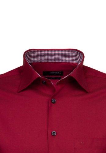 Seidensticker -  Camicia classiche  - Basic - Classico  - Uomo Rot
